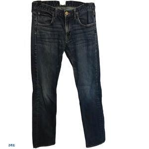 Hudson Byron 5 Pocket Straight Leg Jeans 31 Blue